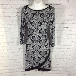 41 Hawthorne paisley stretch dress gorgeous S EUC